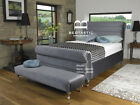 Mayfair Fabric Upholstered Scroll Bed Frame 3ft Single 4ft6 Double 5ft King size