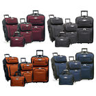 Amsterdam 4-Piece Light Expandable Rolling Luggage Suitcase Tote Bag Travel Set
