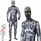Terminator 2 Endoskeleton Costume Deluxe Mens Licensed Fancy Dress Outfit New