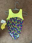 New Sz 3 CXS leotard for gymnastics dance bright yellow/jellybean