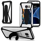 Silicone Credit Card Holder Slot Stand Bumper Frame Case Cover For Smart Phone