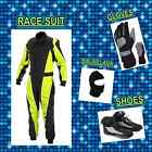Yellow fluorescent Kart Pack (includes Suit, Gloves, Balaclava & Shoes) free bag