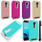 For Asus ZenFone 2E Luxury Shockproof HYBRID Bling Crystal Case Phone Cover +Pen