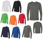 MENS TECH PERFORMANCE, LONG SLEEVE, T-SHIRT, WICKING ANTI-MICROBIAL S-L XL 2X 3X