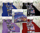 New York City Duvet Quilt Cover Pillow case Bedding Set Single Double King