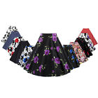 ST Womens High Waist Vintage Short Printed Bubble Skirt Pleated Polka Dot Dress