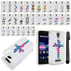 For ZTE Obsidian Z820 Crystal Bling HYBRID Case Protective Phone Cover + Pen