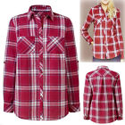 New Ladies Anthology Check Cotton Long Tabbed Sleeve Shirt Blouse Plus Siz 16-32