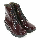 Fly London Women's Ygot Patent Leather Zip Boot Burgundy