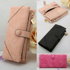 2016 Women's Fashion Leather Wallet Button Clutch Lady Long Handbag Bag Purse