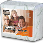 Deep Pocket Mattress Protector Bamboo Hypoallergenic Topper Fitted Bed Cover