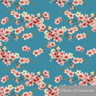 Designer Upholstery Curtain Vintage Floral Fabric Cherry Blossom Cotton Linen