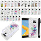For HTC 10 One M10 Crystal Sparkle HYBRID Case Protective Phone Cover + Pen