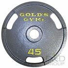"""NEW Golds Gym 2"""" Grip Plate Olympic Weight Home Workout Exercise Lifting Barbell"""