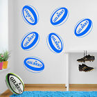 Rugby Ball Gilbert Balls Sports Kids New Union Team Game Wall Stickers Decal A18