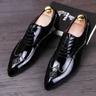 Mens Fashion New Casual Wing Tip Brogue Lace Up Dress Formal Shoes Black Us Size