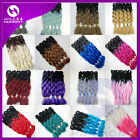 "24"" Jumbo Braids Kanekalon Synthetic Yaki Straight Twist Hair Extension 100g"