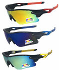 Mens POLARIZED Mirrored Lens Cycling Fishing Baseball Sport Wrap Sunglasses