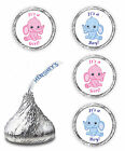 108 ITS A GIRL BOY PINK BLUE ELEPHANT BABY SHOWER PARTY KISSES LABELS STICKERS