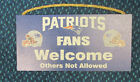 NFL Choose your own Team Fans Welcome Wooden Sign 6 X 12 New on eBay