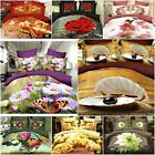 Double size FLORAL ROSE BUTTERFLAY 3d duvet bedding set  LIMITED COLLECTION