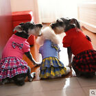 Dog Dress Pet Skirt Autumn 3 Color Plaid Clothing for Small Pets XS S M L XL