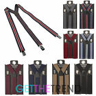 Mens Pierre Roche Plain Braces Mens Stretch Adjustable Clip Braces Gift Idea