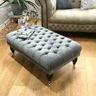 New 50CM X 100CM X 40CM TUFTED CHESTERFIELD DEEP BUTTONS FOOTSTOOL STOOL