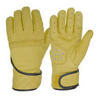 Goldtop Tan Leather Flat Tracker Harley Cruiser Cafe Racer Motorcycle Gloves