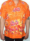 mens  orange tropical fish bubbles hawaiian wedding ibiza shirt sz S - 2XL