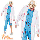 Adult Mad Surgeon Costume Halloween Zombie Doctor Mens Fancy Dress Outfit New