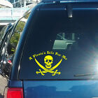 A Pirate's Life For Me with Jolly Roger Vinyl Decal - fits cars + more K343