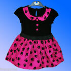 Girls Official Disney Minnie Mouse Party Dress Costume Age 1 2 3 4  Years