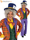 Adult Mad Hatter Costume Mens Costume Alice Film Book Week Outfit Halloween M L