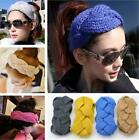 New Womens Headband Winter Wool Braid Band Plait Knitted Hairband Ski Earmuff LA