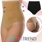 Womens New High Waist Control Thong Ladies Black Nude Shapewear Knickers Cheap