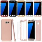 For Samsung Galaxy S6 edge S7 edge Tempered Glass + 360° Acrylic Hard Case Cover