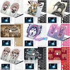 Folk Design Animal Painted Cut-out Hard 2PC Matte Cover Case for Macbook Laptop