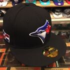 New Era Toronto Blue Jays Fitted Hat Black/Dominican Republic DR Flag on Ebay