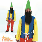 Adult Gnome Costume Seven Dwarfs Various Styles Mens Fancy Dress Outfit New