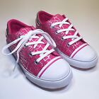Umi 'Terri' Canvas Lace-Up Rose Pink Sneaker for Little and Big Kids