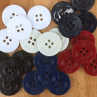 5 x moulded anchor buttons 6 colours 4 holes white red blue royal red & ivory