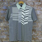 Volcom Bonker Stripe Casual Short Sleeve Polo Shirt New - Green - Size: S