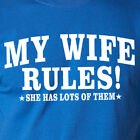 MY WIFE RULES! SHE HAS LOTS OF THEM funny T-Shirt husband married happy life