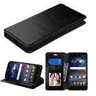 Hybrid Leather Wallet Pouch Flip Cover For Alcatel Ideal / Dawn / Acquire Streek