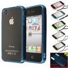 New Clear Hard Back Skin Cover Transparen Crystal Gel Case for Apple iPhone 4 4S