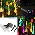 Solar Powered 20FT Water Drop String Fairy Lights Garden Outdoor Xmas Party Lamp