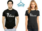 Couple Tshirt PRINCE PRINCESS FASHION Matching Couple Tshirt Cartoon BLACK-BLACK