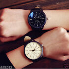 Fashion Mens Womens Lover Watch Simple Leather Numerals Quartz Wrist Watches New