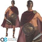 SPARTAN WARRIOR FANCY DRESS COSTUME ADULT MENS ROMAN GLADIATOR OUTFIT